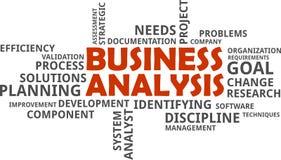 Word cloud - business analysis Stock Photo