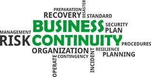 Word cloud - business continuity Royalty Free Stock Photos