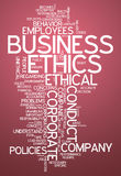 Word Cloud Business Ethics. Word Cloud with Business Ethics related tags Royalty Free Stock Photography