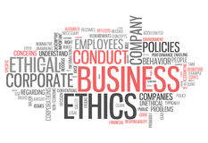 Word Cloud Business Ethics Stock Photo