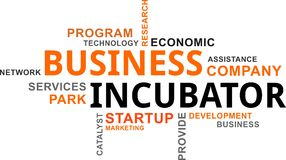 Word cloud - business incubator Stock Photography