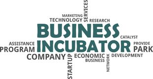 Word cloud - business incubator Stock Images