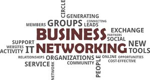 Word cloud - business networking Royalty Free Stock Photo