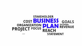 Word cloud - business plan stock footage