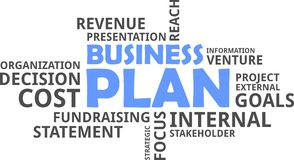 Word cloud - business plan Stock Photography