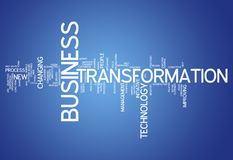 Word Cloud Business Transformation. Word Cloud with Business Transformation related tags stock illustration