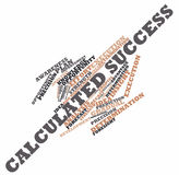 Word cloud for Calculated Success. Abstract word cloud for Calculated Success with related keywords and terms vector illustration