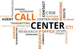 Word cloud - call center Royalty Free Stock Photos