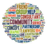 Word cloud - Caring. Word cloud for term caring Royalty Free Stock Images