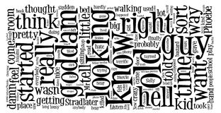 Word cloud of Catcher in the Rye Stock Images