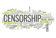 Word Cloud Censorship. Word Cloud with Censorship related tags Stock Photos