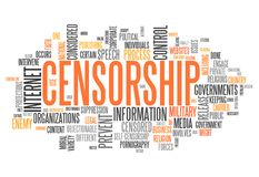 Word Cloud Censorship. Word Cloud with Censorship related tags Stock Photography