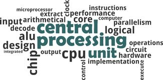 Word cloud - central processing unit Stock Photography