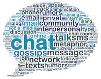 Word cloud of chat Royalty Free Stock Photos