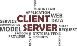 Word cloud - client server model Stock Photos