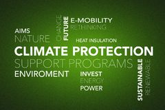 Word cloud climate change Stock Photography