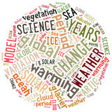 Word cloud on climate change and global warming Royalty Free Stock Image