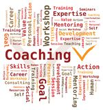 Word Cloud - Coaching vector illustration