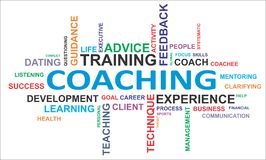 Word cloud - coaching stock illustration