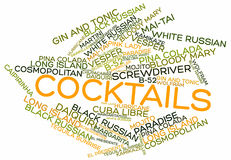 Word cloud for Cocktails Stock Photography