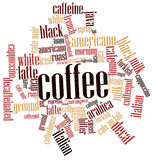 Word cloud for Coffee. Abstract word cloud for Coffee with related keywords and terms Stock Images