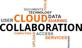 Word cloud - cloud collaboration. A word cloud of cloud collaboration related items vector illustration