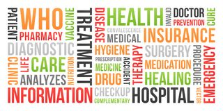 Health, insurance, medical - Word Cloud stock image