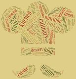 Word cloud concept healthy cooking in restaurant related Stock Image