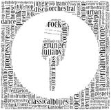 Word cloud concept of music genres Stock Photography