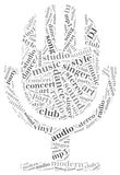 Word cloud concept music related Royalty Free Stock Photo
