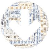 Word cloud concept related to quantitative easing. Sort of monetary policy Royalty Free Stock Image