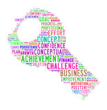 Word cloud - concept of success. Word cloud for term concept of success Stock Photo