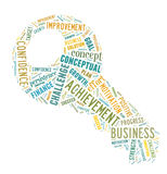 Word cloud - concept of success. Word cloud for term concept of success Royalty Free Stock Images