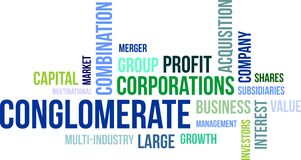 Word cloud - conglomerate Stock Image