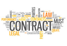 Word Cloud Contract Royalty Free Stock Photography