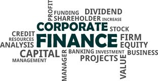 Word cloud - corporate finance royalty free illustration
