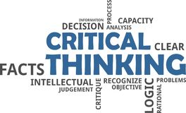 Word cloud - critical thinking Stock Photo