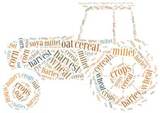 Word cloud crops related Royalty Free Stock Images