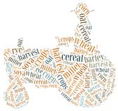 Word cloud crops related Stock Photography