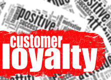 Word cloud customer loyalty Stock Images