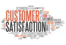 Word Cloud Customer Satisfaction. Word Cloud with Customer Satisfaction related tags Royalty Free Stock Images
