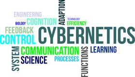 Word cloud - cybernetics. A word cloud of cybernetics related items royalty free illustration