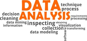 Word cloud - data analysis Stock Photography
