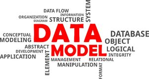 Word cloud - data model Royalty Free Stock Image
