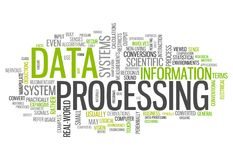 Word Cloud Data Processing. Word Cloud with Data Processing related tags Stock Photography