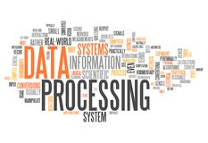 Word Cloud Data Processing. Word Cloud with Data Processing related tags Stock Images