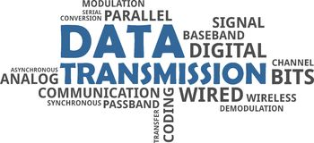 Word cloud - data transmission Royalty Free Stock Images