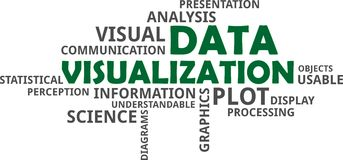 Word cloud - data visualization. A word cloud of data visualization related items Stock Photo