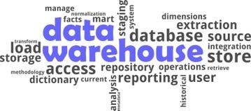 Word cloud - data warehouse Stock Photos