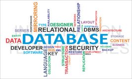 Word cloud - database Royalty Free Stock Image